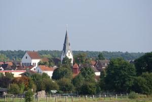 Stadtansicht Weiskirchen mit der Kirche